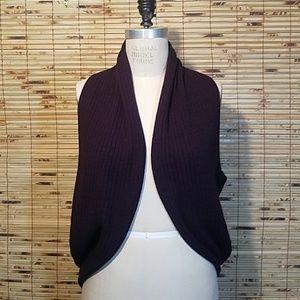 Twenty One Draped Purple Women's Sweater Vest